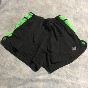 NB Dry Running Cross Country Black Green Shorts